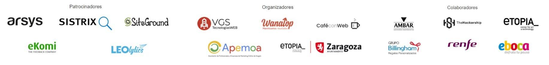 patrocinadores, organizadores y colaboradores de Ensalada SEO 2017