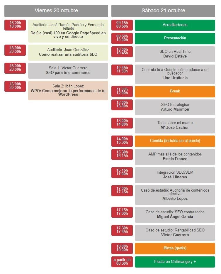 Programa de Ensalada SEO 2017
